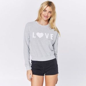 Spiritual Gangster Love Malibu Hacci Crew Neck Top